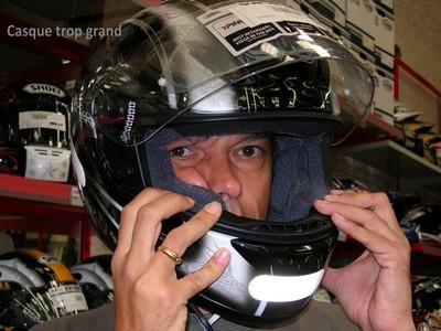 Выбор шлема - проворачивается на голове, не подходит!