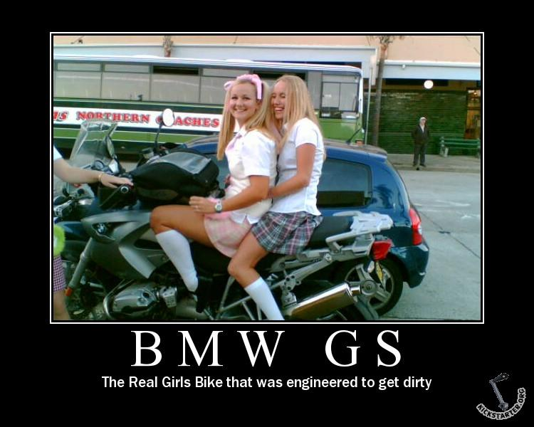 BMW GS - The Real Girls Bike that was engineered to get dirty